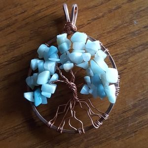 Hand wrapped Tree of life pemdent